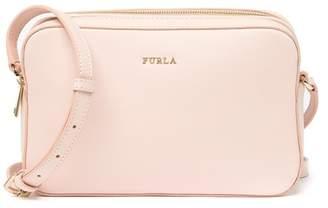 Furla Lilli XL Double Zip Leather Crossbody Camera Bag