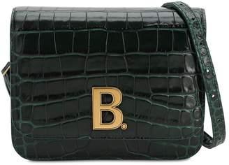 Balenciaga SM BDOT CROC EMBOSSED LEATHER BAG