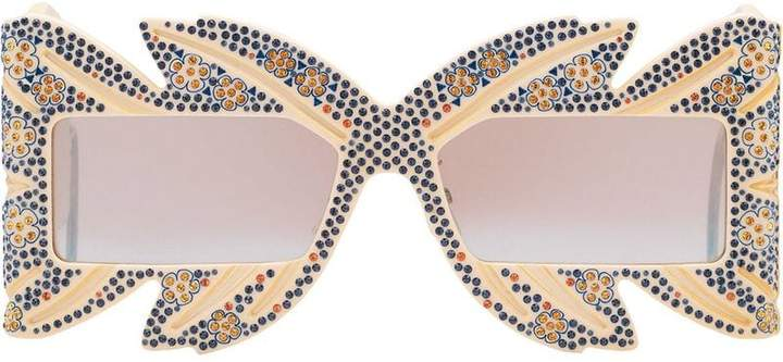 27652a4ec2cbe Gucci White Women s Sunglasses - ShopStyle