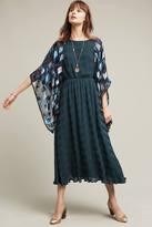 Anthropologie Blue Tiled Velvet Kimono