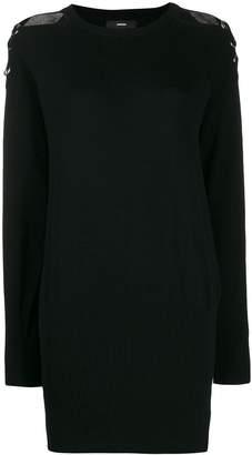 Diesel cold-shoulder sweater dress