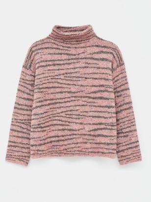 White Stuff Animal Stripe Jumper - Pink
