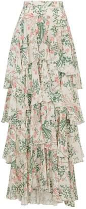 Giambattista Valli Silk Floral Skirt
