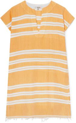 Lemlem Doro Frayed Striped Cotton-blend Gauze Tunic