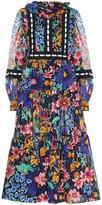 Marc Jacobs Cotton-voile floral midi dress