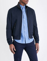 Sandro Leather-collar bomber jacket