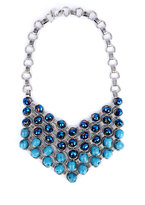 Eudlina Turquoise Crystal Necklace