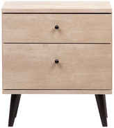 International Home Miami Corp Midtown Concept 2-Drawer Nightstand Bedside Table, Sand