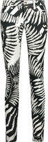 Just Cavalli Low-rise printed skinny jeans