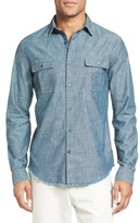 Vince Men's Trim Fit Chambray Sport Shirt