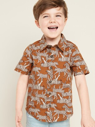 Old Navy Printed Poplin Shirt for Toddler Boys