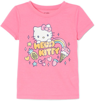 E Play Brands E-play Brands Girls' Tee Shirts KNOCKOUT - Hello Kitty Knockout Pink Ice Cream Tee - Girls