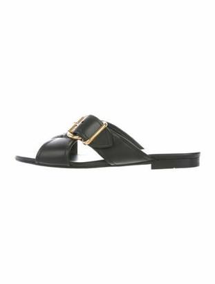 Prada Leather Slides Black