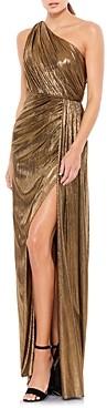 Mac Duggal Metallic One-Shoulder Gown