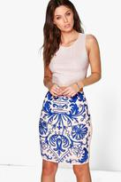 Boohoo Boutique Summer Embroidered Midi Skirt