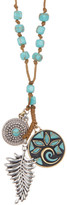 Lucky Brand Mosaic Charm Long Necklace
