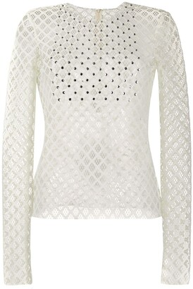 Philosophy di Lorenzo Serafini mesh detail top