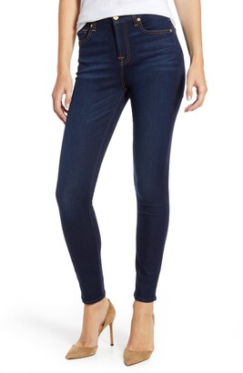 7 For All Mankind Slim Illusion High Waist Ankle Skinny Jeans