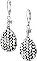 The Sak Basketweave Texture Drop Earrings