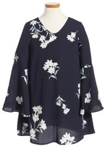 Soprano Girl's Floral Bell Sleeve Dress