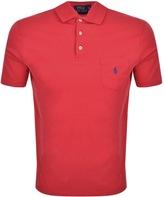 Ralph Lauren Pocket Polo T Shirt Red