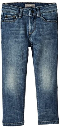 DL1961 Kids Brady Mid Wash Slim Leg Adjustable Waist Band and Snap Button in Fresh (Toddler/Little Kids/Big Kids) (Fresh) Boy's Jeans