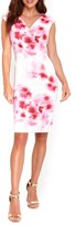 Wallis Women's Floral Scuba Knit Sheath Dress