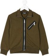 DSQUARED2 zip sweatshirt - kids - Cotton - 4 yrs