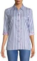 Robert Graham Tori Striped Cotton Button-Down Shirt
