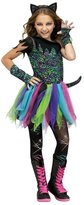 Fun World Costumes Girls Wild Rainbow Cat Costume Size 8-10