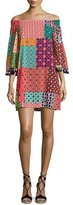 Trina Turk Amaris Off-the-Shoulder Patterned Dress, Multi