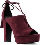 Michael Kors Sylvan Suede Open Toe Lace Up Platform Sandals
