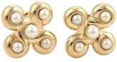 Chanel 18K Yellow Gold Classic Pearl & Fancy Design Earrings