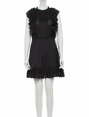 Ulla Johnson Crew Neck Mini Dress Black