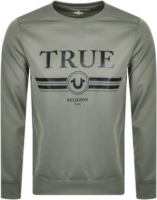 True Religion Retro Logo Sweatshirt Green