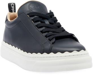 Chloé Lauren Low-Top Leather Sneakers