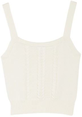 Abound Cable Knit Crop Sweater Tank Top
