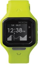 Nixon Men's Supertide Neon Yellow Silicone Watch