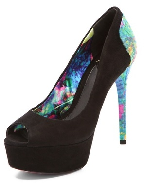Brian Atwood Blayne Snake Suede Pumps