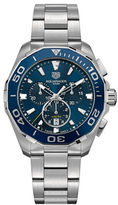 Tag Heuer Aquaracer Brushed Stainless Steel Bracelet Watch, CAY111BBA092