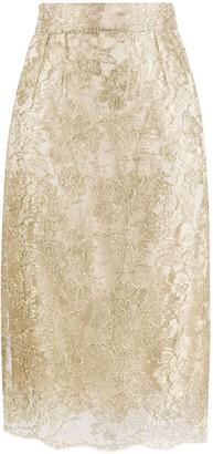 Dolce & Gabbana Lace Brocade Skirt