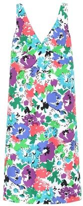 Plan C Floral twill midi dress