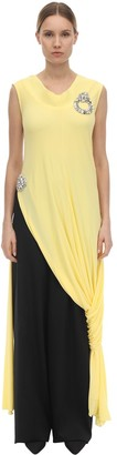 J.W.Anderson Layered & Draped Fluid Jersey Dress Top