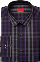 Alfani Men's Slim-Fit Stretch Windowpane Plaid Dress Shirt, Created for Macy's