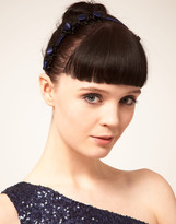 Odille LAND by LAND Navy Triple Frilled Alice Band