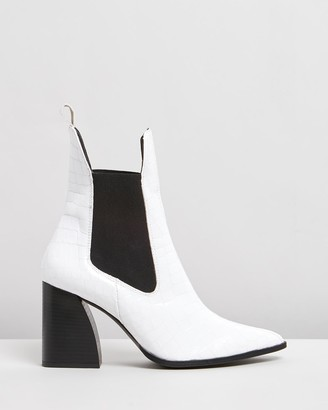 Siren Women's White Chelsea Boots - Hutterfly - Size One Size, 35 at The Iconic