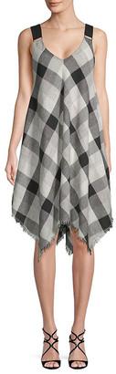 Moon River Handkerchief Linen-Blend Dress