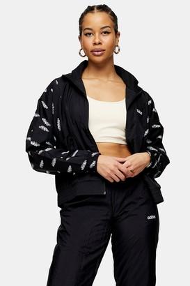 adidas Womens Black Logo Jacket By Black