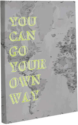 Your Own One Bella Casa You Can Go Way Map Wall Decor