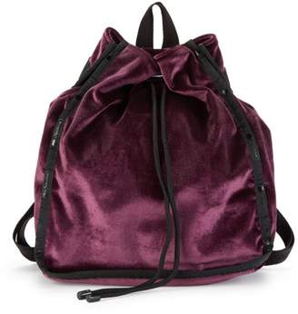 Le Sport Sac Nadine Velvet Drawstring Backpack